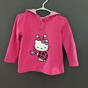 Hello Kitty ladybug dark pink hoodie